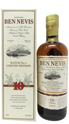 Ben Nevis - Batch No.1 - 2008 10 year old Whisky