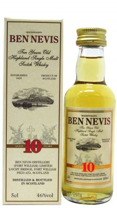 Ben Nevis - Highland Single Malt Miniature 10 year old Whisky