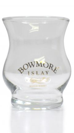 Bowmore Whisky Glass with Gold Lettering