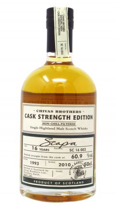 Scapa - Cask Strength Edition - 1993 16 year old Whisky