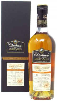 Miltonduff - Chieftain's Single Malt - 1998 20 year old Whisky