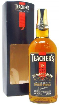 Teacher's - Highland Cream  18 year old Whisky