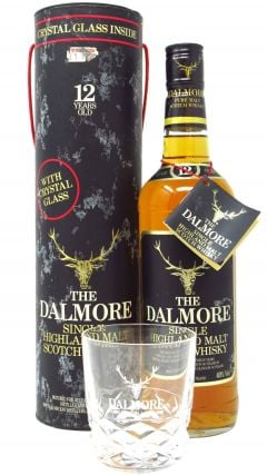 Dalmore - Single Highland Malt With Free Crystal Glass (old bottling) 12 year old Whisky