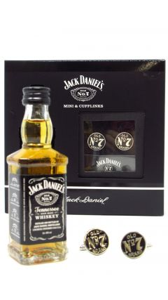 Jack Daniel's - Old No. 7 Miniature & Cufflinks Gift Set (Hard To Find Whisky Edition) Whiskey