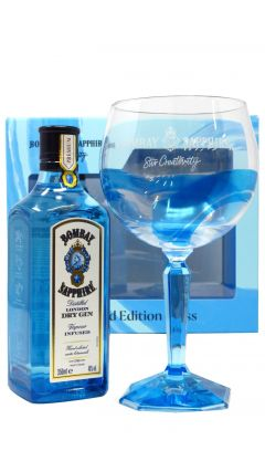 Gin - Bombay Sapphire & Glass Gift Set (Hard To Find Edition) Whisky