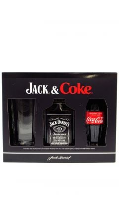 Jack Daniels - 20cl Old No. 7 + Coca Cola + Branded Glass Gift Pack (Hard To Find Whisky Edition) Whiskey