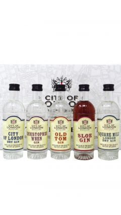City Of London - 5 x 5cl Miniatures Gift Set Gin