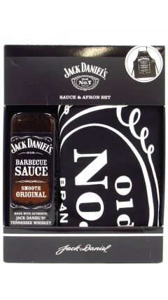 Jack Daniels - Barbecue Sauce & Jack Daniels Branded Apron Gift Set Whiskey