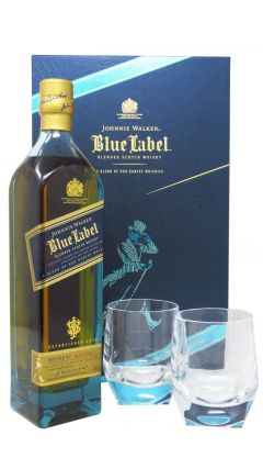 Johnnie Walker - Richard Malone Collection Blue Label + 2 x Tumblers Gift Pack Whisky
