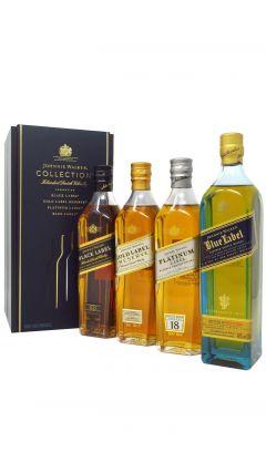Johnnie Walker - 4 x 20cl Bottles of Black, Gold, Platinum & Blue Label Gift Set Whisky