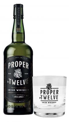 Proper - No. Twelve 12 Connor McGregor + Branded Glass Tumbler Irish Whiskey