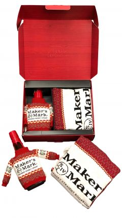 Makers Mark - Limited Edition Jumped Bottle & Jumper (Medium Size) Whiskey