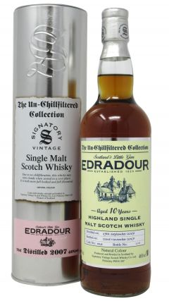 Edradour - The Un-Chillfiltered Collection Single Cask #316 - 2007 10 year old Whisky