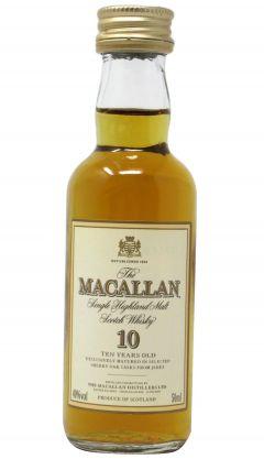 Macallan - Highland Single Malt Miniature (old bottling) 10 year old Whisky
