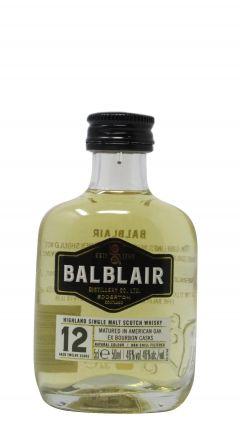 Balblair - Highland Single Malt Scotch Miniature 12 year old Whisky