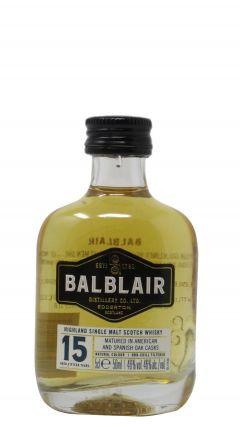 Balblair - Highland Single Malt Scotch Miniature 15 year old Whisky