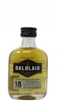 Balblair - Highland Single Malt Scotch Miniature 18 year old Whisky