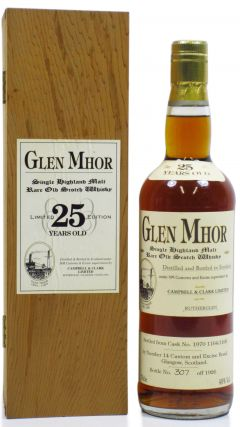 Glen Mhor (silent) - Single Highland Malt - 1970 25 year old Whisky