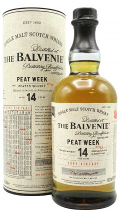 Balvenie - Peat Week 1st Release - 2002 14 year old Whisky