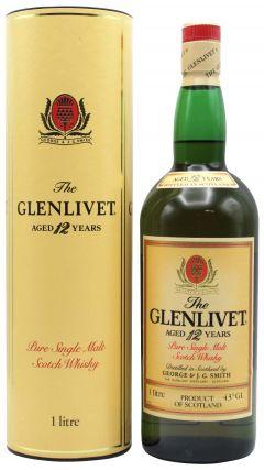 Glenlivet - Pure Single Malt Scotch (old bottling) 12 year old Whisky