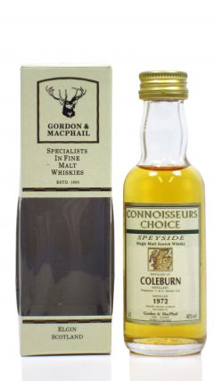 Coleburn (silent) - Connoisseurs Choice - Miniature - 1972 Whisky