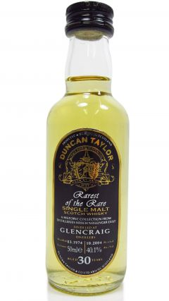 Glencraig (silent) - Rarest of the Rare Miniature - 1974 30 year old Whisky