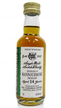 Mannochmore - Speyside Single Malt - Miniature 14 year old Whisky