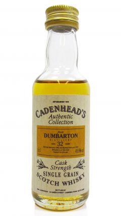 Dumbarton (silent) - Single Grain Miniature - 1962 32 year old Whisky
