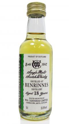 Benrinnes - Speyside Single Malt - Miniature 18 year old Whisky