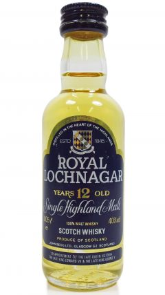 Royal Lochnagar - Single Highland Malt - Miniature 12 year old Whisky