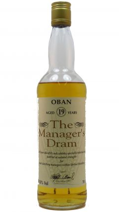 Oban - The Managers Dram - 1976 19 year old Whisky