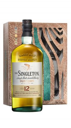 Dufftown - Singleton Single Malt & 2 x Glass Tumblers Gift Pack 12 year old Whisky