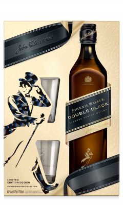 Johnnie Walker - Double Black & 2 x Glass Tumblers Gift Pack Whisky