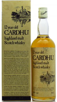 Cardhu - Highland Single Malt 12 year old Whisky