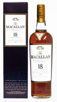 Macallan - Light Mahogany Sherry Oak - 1994 18 year old Whisky