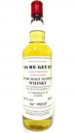 Secret Highlands - As We Get It 8 year old Whisky