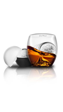 Final Touch Relax On The Rocks Whisky Glass With Iceball Mold