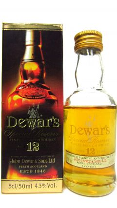 Dewar's - Special Reserve Miniature 12 year old Whisky
