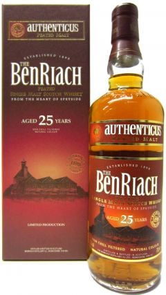 BenRiach - Authenticus Peated 25 year old Whisky