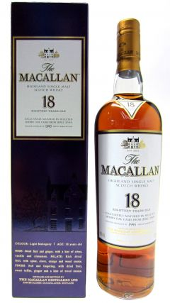 Macallan -  Light Mahogany Sherry Oak - 1995 18 year old Whisky