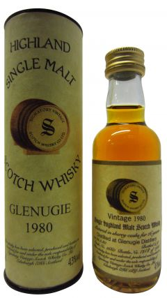 Glenugie (silent) - Signatory Vintage Miniature - 1980 17 year old Whisky