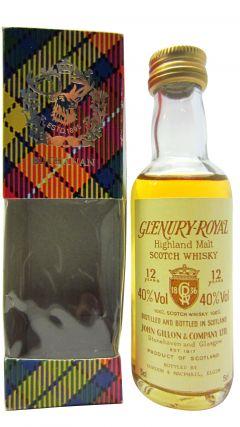 Glenury Royal (silent) - Single Highland Malt Miniature 12 year old Whisky