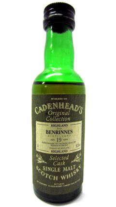 Benrinnes - Cadenheads Original Collection Miniature - 1971 19 year old Whisky