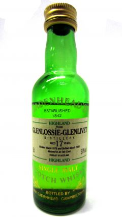 Glenlossie - Cadenheads Miniature - 1978 17 year old Whisky