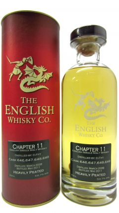 The English Whisky Co. - Chapter 11 - Heavily Peated - 2008 3 year old Whisky