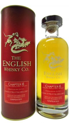 The English Whisky Co. - Chapter 6 - Unpeated - 2009 3 year old Whisky
