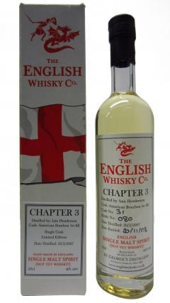 The English Whisky Co. - Chapter 3 Not Yet Whisky - 2007 0 year old Whisky