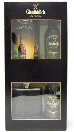 Glenfiddich - 2 x Miniatures & Hip Flask Gift Set 12 year old Whisky