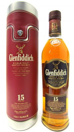 Glenfiddich - Solera Vat with Metal & Red Leatherette Case 15 year old Whisky