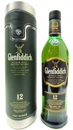 Glenfiddich - Signature Malt with Metal & Green Leatherette Case 12 year old Whisky